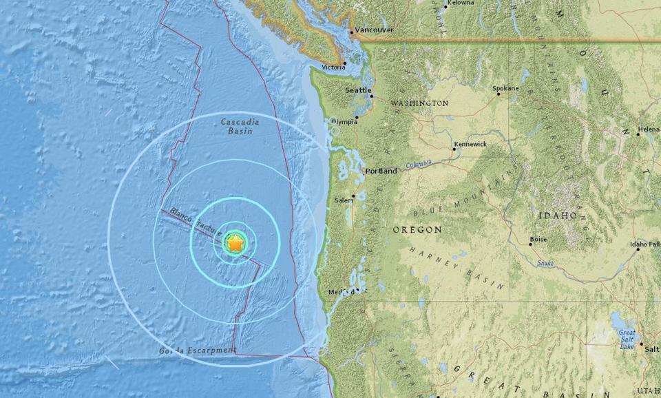 Earthquake Reported Off The Coast Of Oregon The Boston Globe