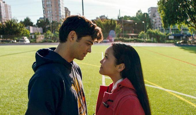 "In ""All the Boys I've Loved Before,"" the introverted Lara Jean (Lana Condor) and popular jock Peter Kavinsky (Noah Centineo) pretend to date to make Lara Jean's longtime crush jealous. The film is part of Netflix's plan to revive the romantic comedy. MUST CREDIT: Awesomeness Films, Netflix"