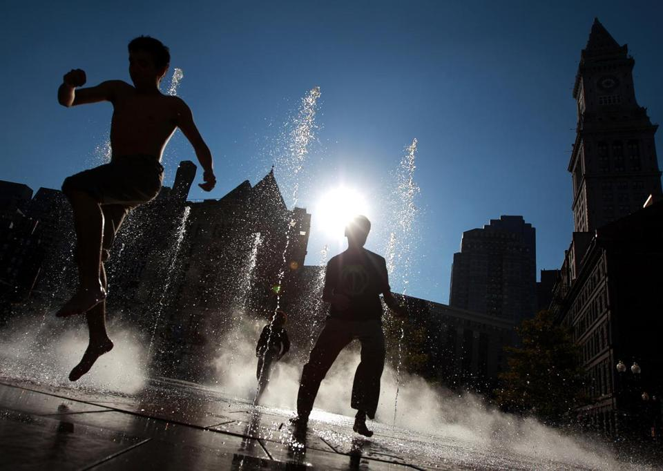 The Rose Kennedy Greenway offers plenty of diversions for visitors, including seven water features.