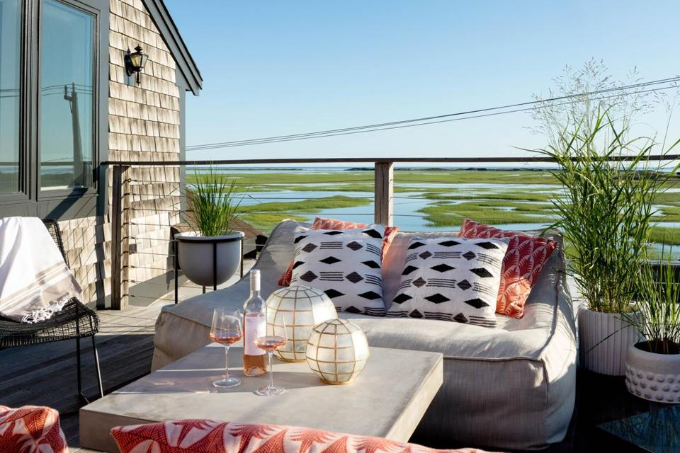 The patio at the AWOL Hotel in Provincetown has pretty views.
