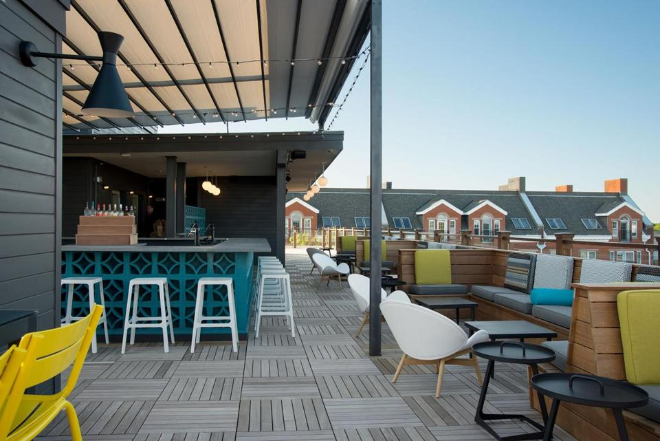 The Hotel Salem has a cool rooftop lounge.