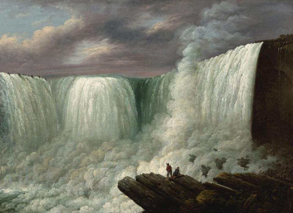 "Louisa Davis Minot's 1818 ""Niagara Falls"" is part of ""The Poetry of Nature: Hudson River School Landscapes From the New-York Historical Society"" at the Worcester Art Museum."