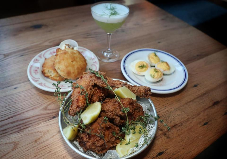 The signature fried chicken at SOUTHERN PROPER.