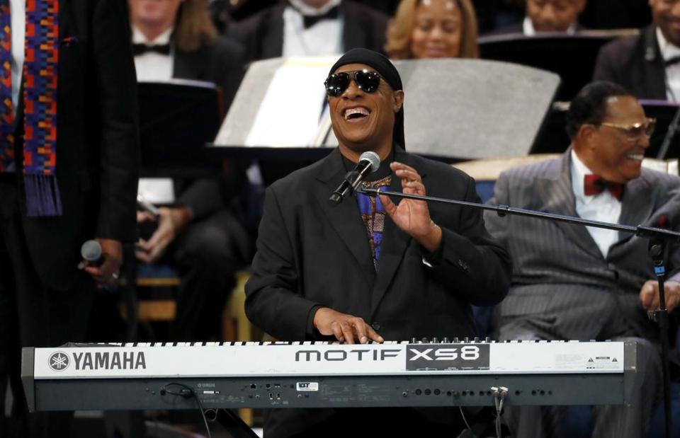 Stevie Wonder performed at the funeral service for Aretha Franklin in Detroit on Friday, then came to Springfield for a concert Saturday.