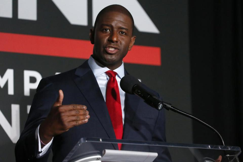 Tallahassee Mayor Andrew Gillum. a Democrat, used low-cost texts to help win his party's gubernatorial primary in Florida.