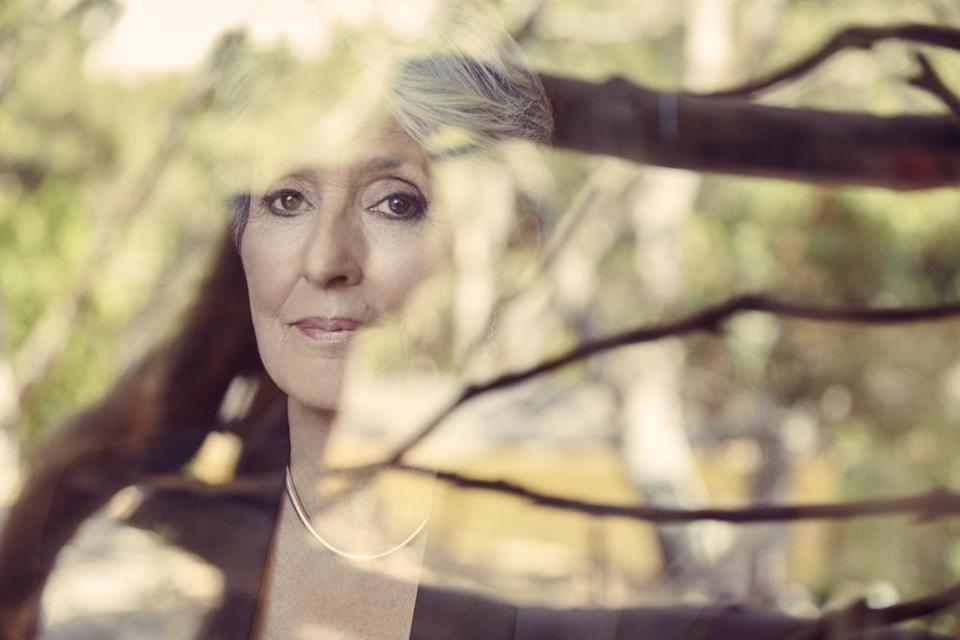 """Whistle Down the Wind"" is the 25th studio album by Joan Baez (pictured at her northern California home)."