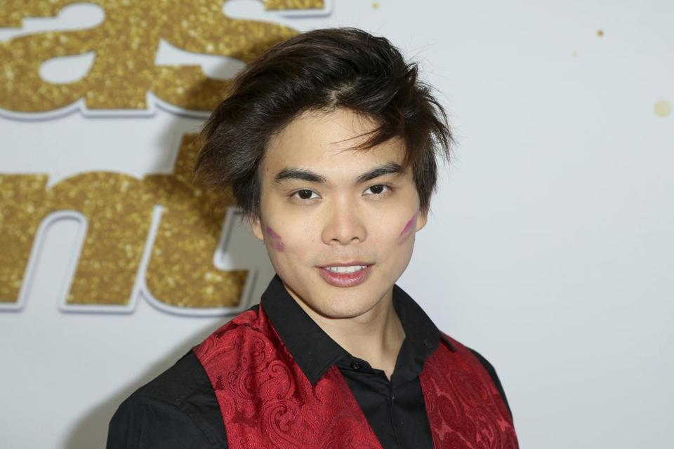 "Magician Shin Lim arrives at the ""America's Got Talent"" Season 13 Week 4 red carpet at the Dolby Theatre on Tuesday, Sept. 4, 2018, in Los Angeles. (Photo by Willy Sanjuan/Invision/AP)"