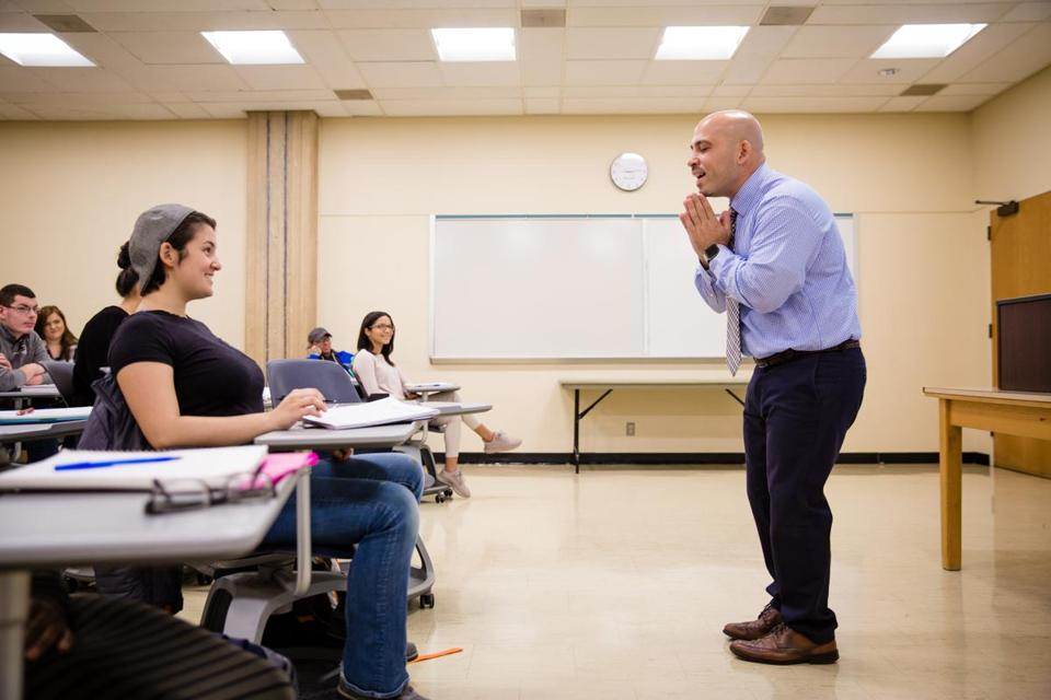Jose Bou, who completed his bachelor's degree from Boston University while in prison, teaches at Holyoke Community College.