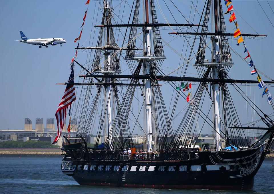 The USS Constitution will mark the 17th anniversary of the 9/11 attacks with one-gun salutes from the gun deck at key moments.