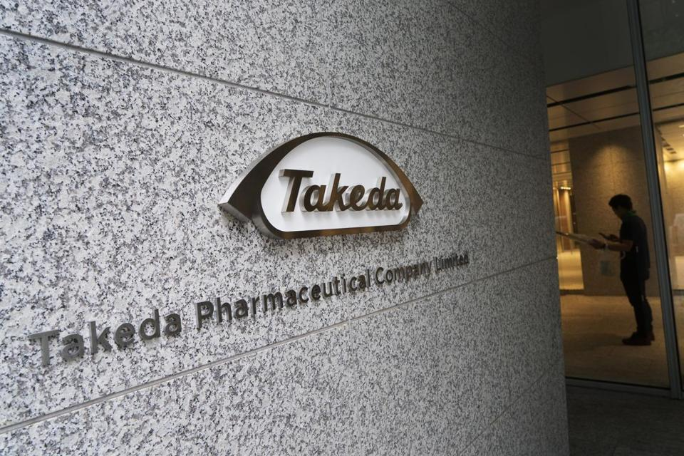 The Takeda Pharmaceutical Co. logo at the company's global headquarters in Tokyo, Japan.
