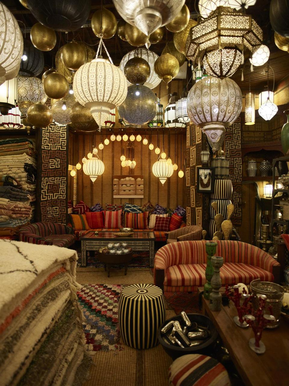 Mustapha Blaoui's eponymous shop in the Marrakech medina.