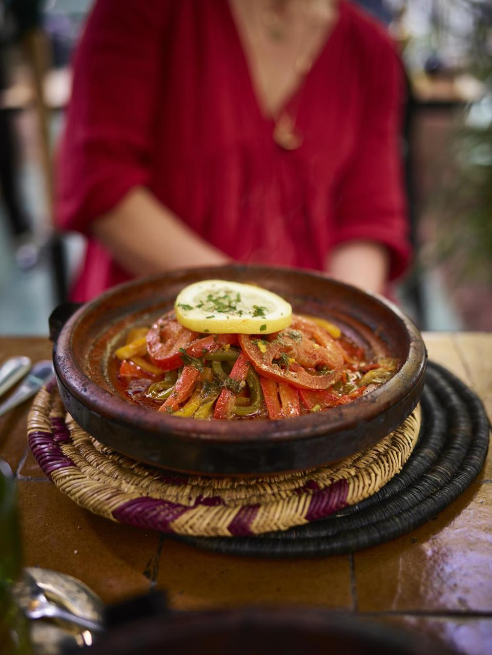 Tagine at Le Jardin in Marrakech.