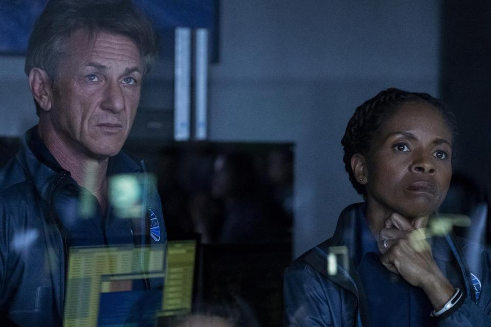 "Sean Penn and LisaGay Hamilton in the Hulu drama ""The First."""