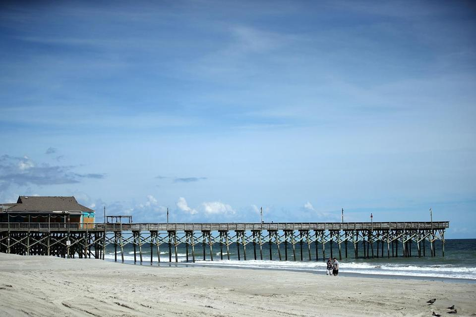 The 2nd Ave. Pier in Myrtle Beach, S.C., was closed ahead of the approaching Hurricane Florence.