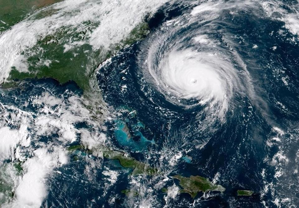 A satellite image taken Tuesday showed Hurricane Florence approaching the US coast.