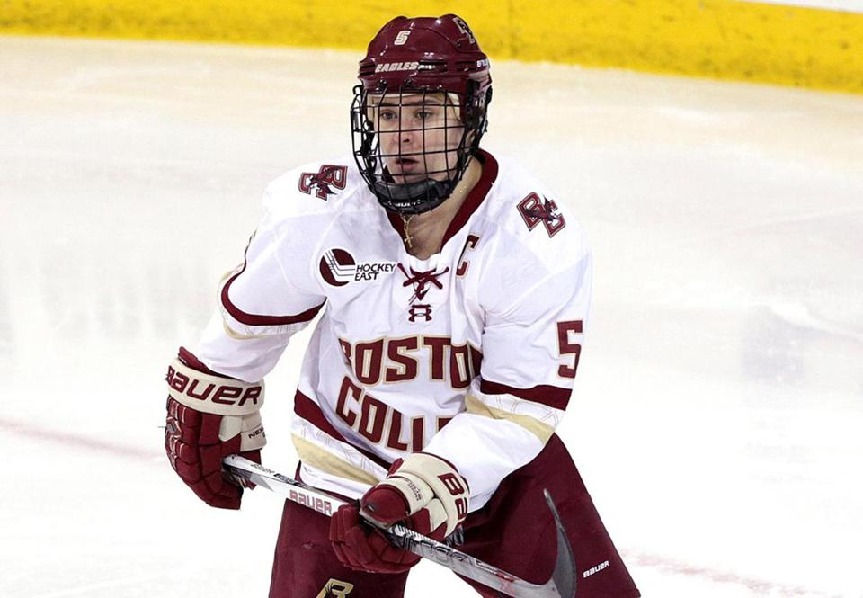 Chestnut Hill, MA - 02/19/16 - Alex Carpenter, Boston College women's hockey player, in a game against Providence College for feature on Carpenter siblings. Bobo plays for BU men's team. - (Barry Chin/Globe Staff), Section: Sports, Reporter: Kevin Paul Dupont, Topic: xxxCarpenter hockey siblings, LOID: 8.2.1783154444.