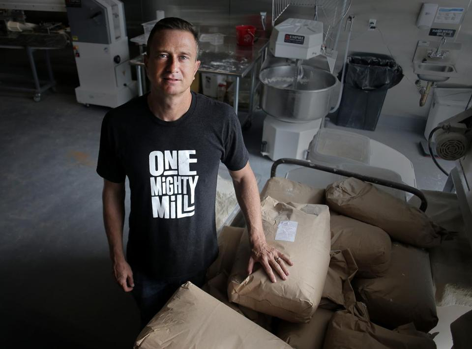 Cofounder Jon Olinto at One Mighty Mill in Lynn.
