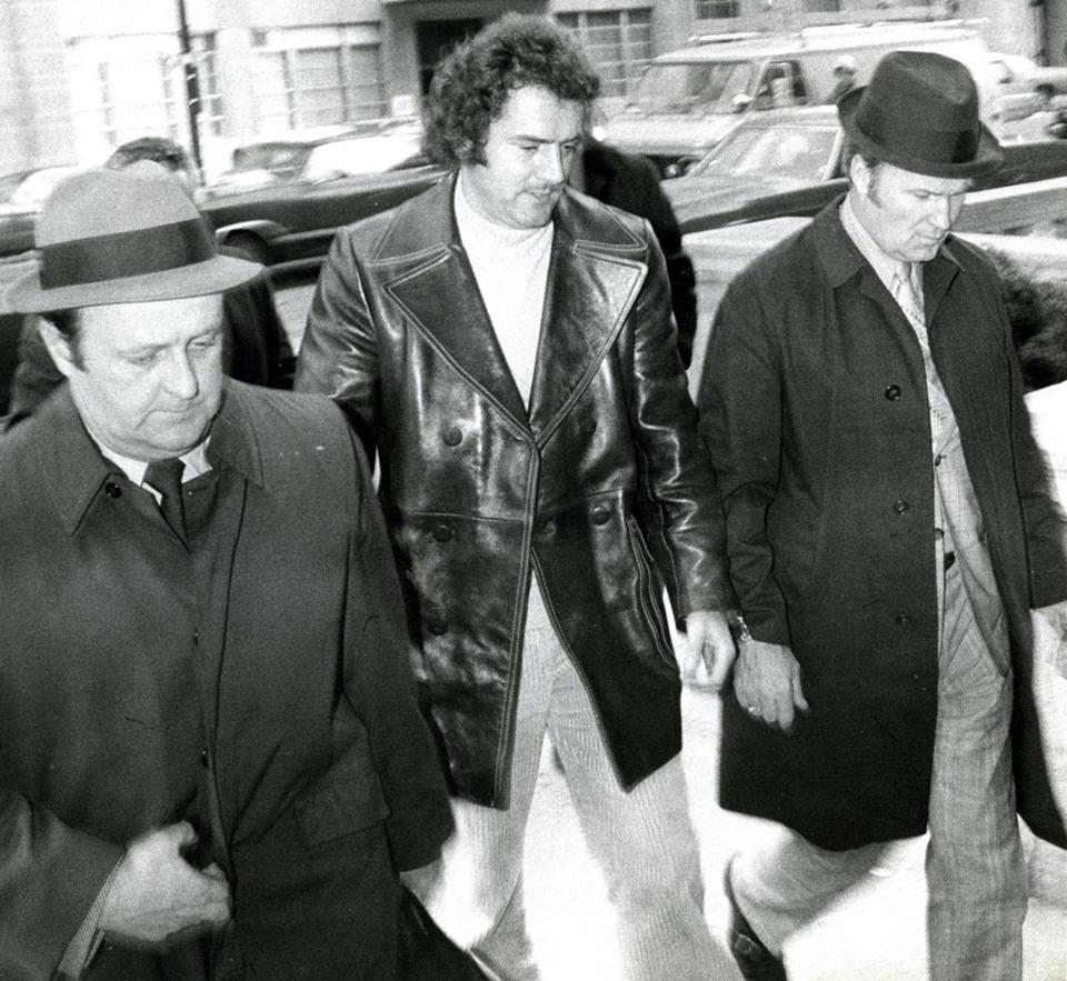 "Francis ""Cadillac Frank"" Salemme was brought into Boston police headquarters in 1972."