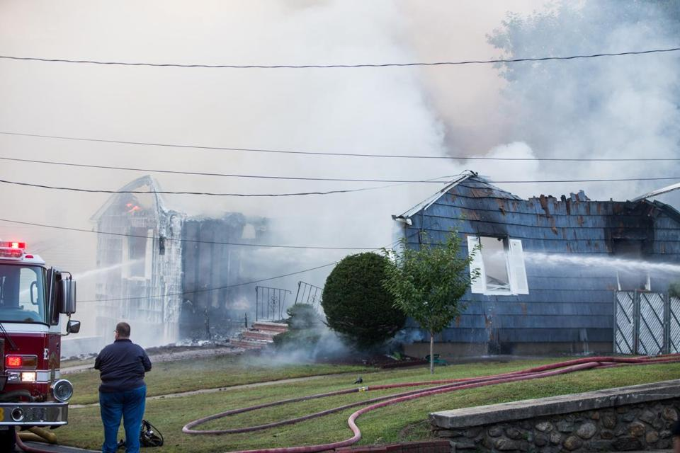 Firefighters battled a blaze in Lawrence after an outbreak of fires on Thursday, Sept. 13.
