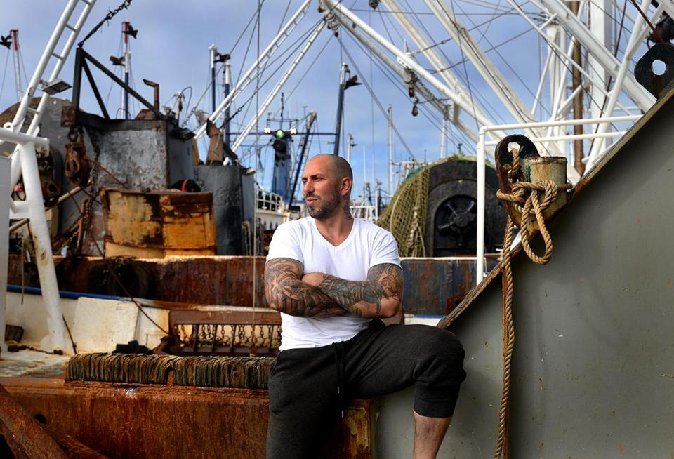 Scallop fisherman Tyler Miranda, on board the Brittany Eryn ship in New Bedford, is in recovery from addiction to opioid painkillers.