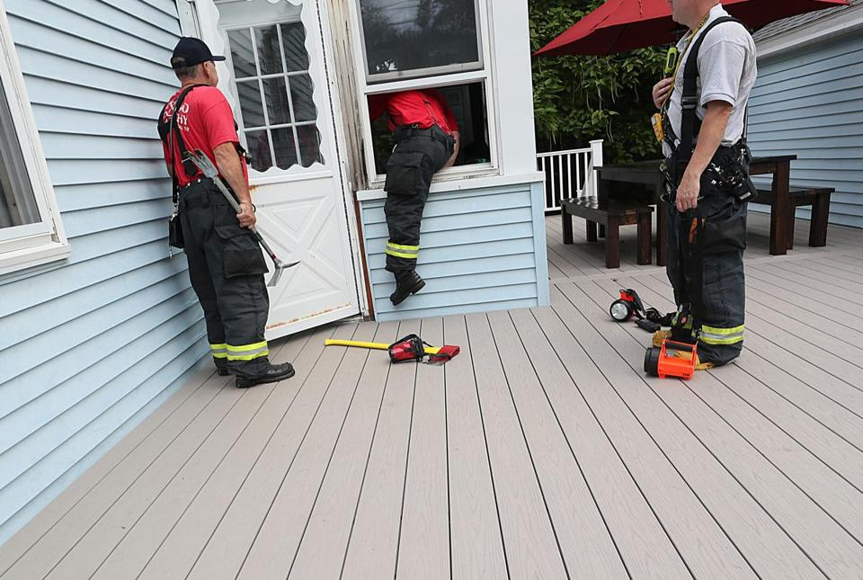 As emergency responders went door to door Friday checking gas lines, locksmiths' services were in high demand.
