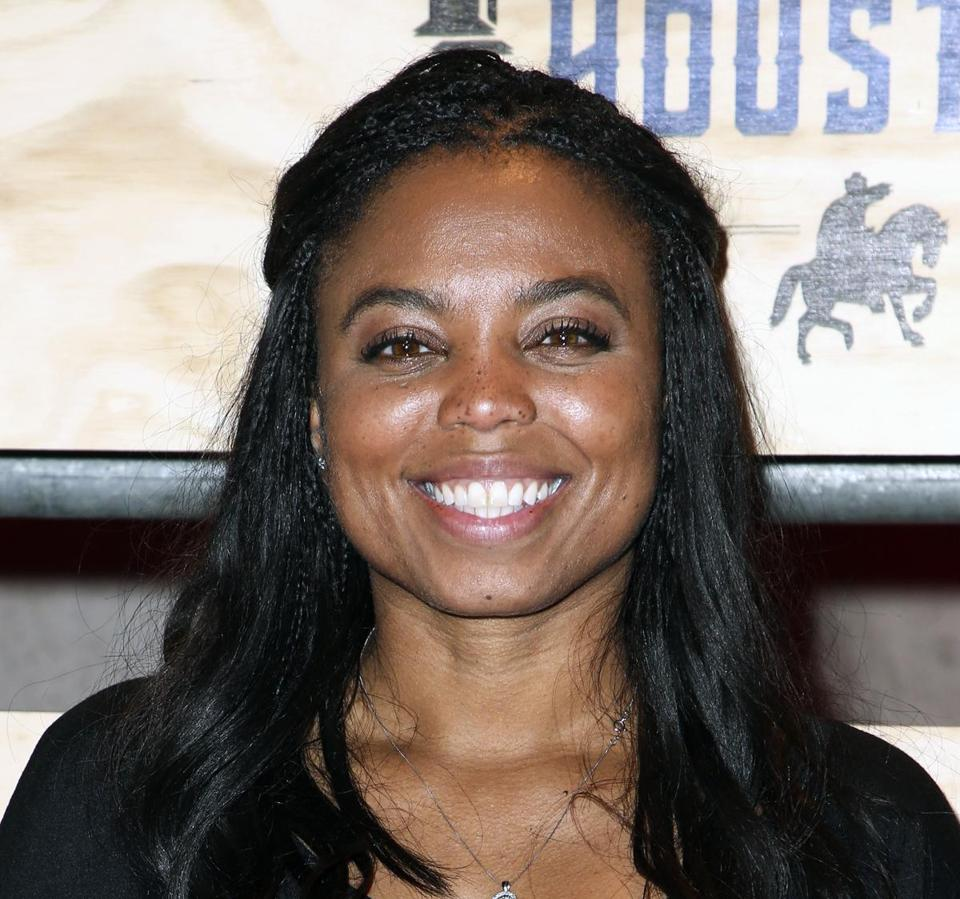"FILE - In this is a Feb. 3, 2017, file photo Jemele Hill attends ESPN: The Party 2017 in Houston, Texas. The outspoken ESPN personality has announced she is leaving the company. Hill attracted attention last year and was briefly suspended for opinionated messages on social media, including a reference to President Donald Trump as a ""white supremacist."" She tweeted Friday, Sept. 14, 2018, that it was her last day at ESPN. (Photo by John Salangsang/Invision/AP, File)"