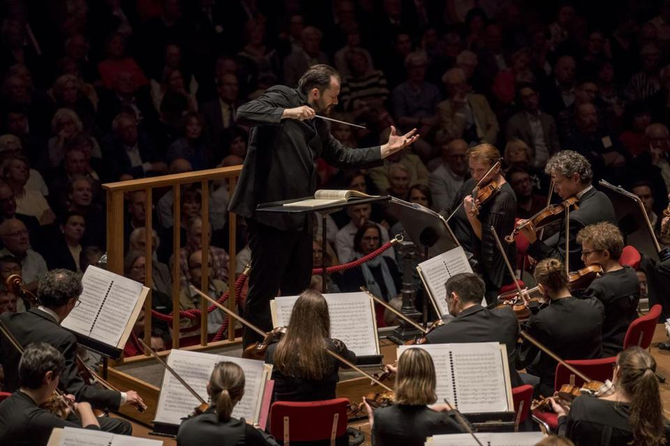 Andris Nelsons led the Boston Symphony Orchestra in Amsterdam's Royal Concertgebouw on Monday.