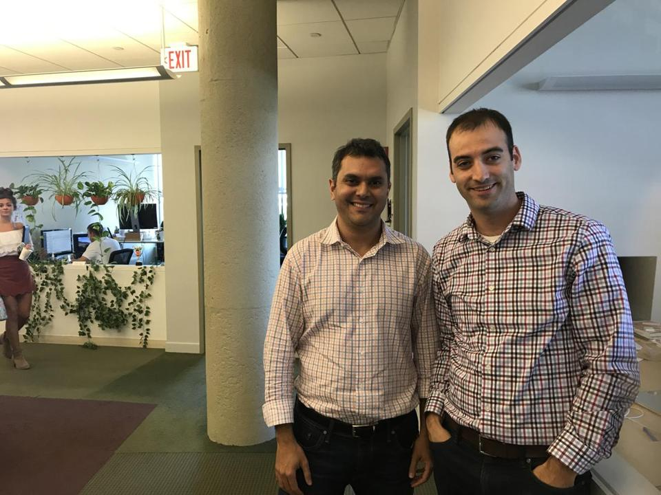 Aman Narang and Steve Fredette, two of the cofounders of Boston startup Toast.