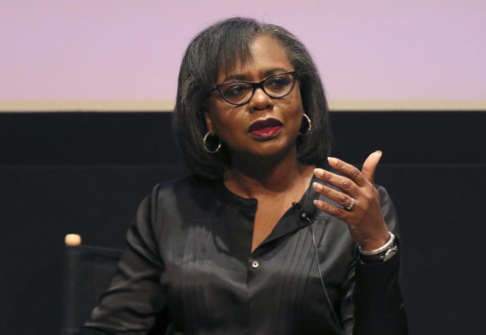 Anita Hill spoke at a discussion about sexual harassment in December 2017.