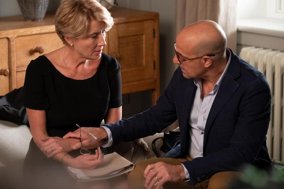 "Emma Thompson and Stanley Tucci in ""The Children Act."""