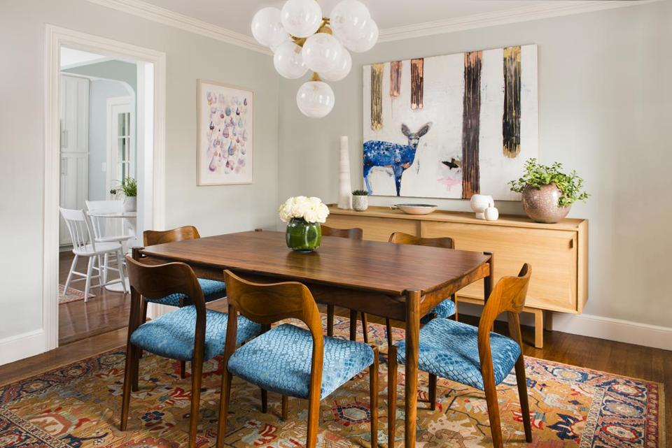 A Modest Dining Room With Mid Century Modern Flavor The Boston Globe