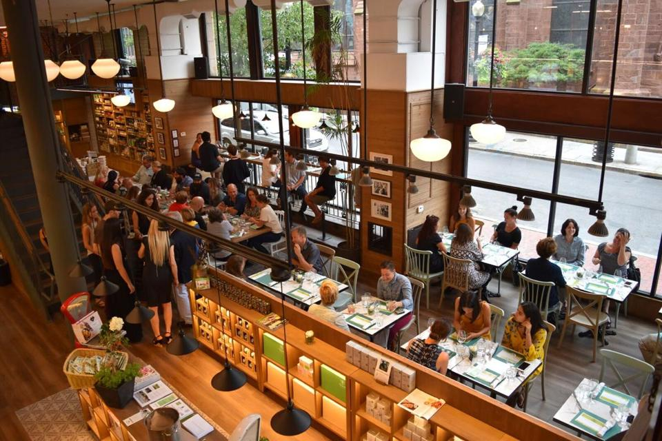 "The Yoleni's in Providence is the brand's second location, and the first in the United States. Not surprisingly, the ""experience store"" is often referred to as a ""Greek Eataly."""