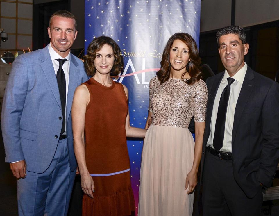 From left: Chris Herren, Elizabeth Vargas, Emily Riemer, and Richard Curcuru at the gala.