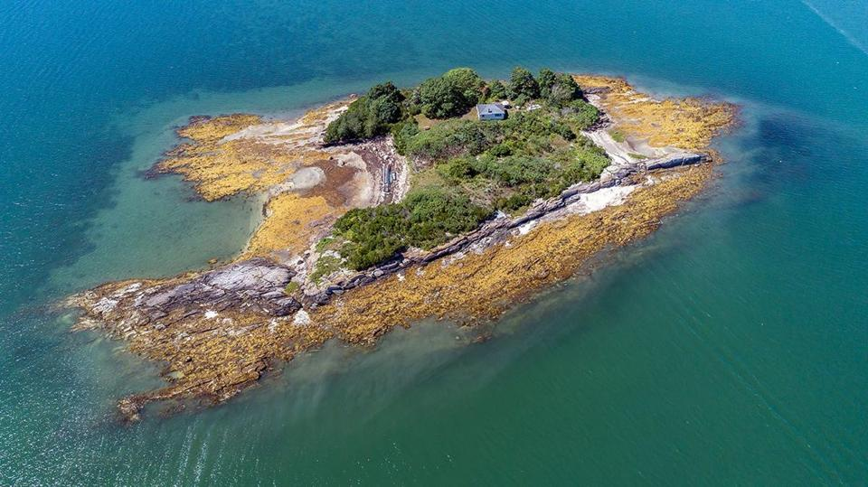 "Crab Island, off of South Freeport, Maine, was put up for sale and is now ""under agreement"" for $950,000."