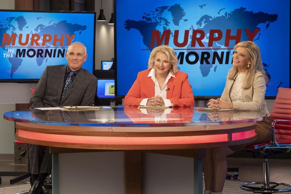 "From left: Joe Regalbuto, Candice Bergen, and Faith Ford return in the revival of ""Murphy Brown."""