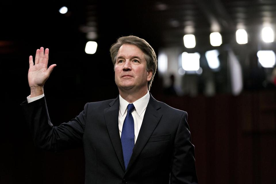 Supreme Court nomiinee Brett Kavanaugh at his Senate Judiciary Committee confirmation hearing in Washington on Sept. 4, 2018. MUST CREDIT: Bloomberg photo by Andrew Harrer.
