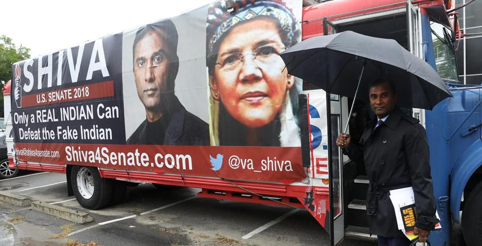 Cambridge, MA - 9/25/18 - Shiva Ayyadurai (cq), chairman and CEO of CytoSolve, Inc. (cq), of Cambridge, is an independent running for US Senate. He prepares to leave on his campaign bus to talk to juniors and seniors at Franklin High School. Photo by Pat Greenhouse/Globe Staff Topic: 28shiva Reporter: Victoria McGrane