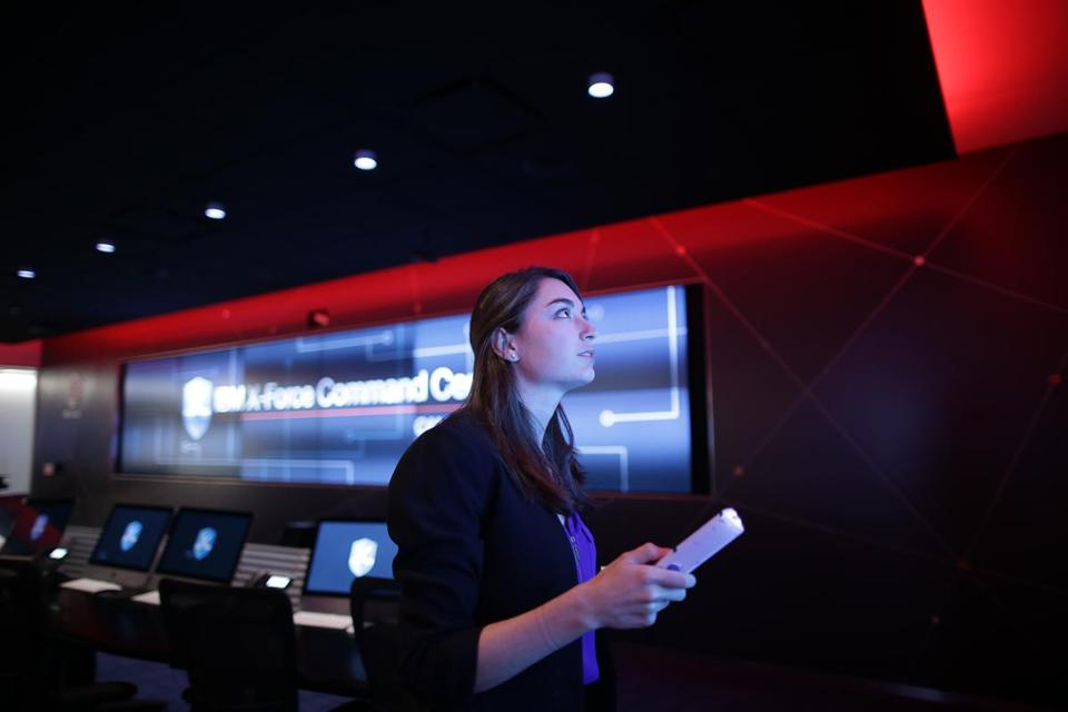 Allison Ritter is the creative director of IBM's X-Force Command Center in Cambridge.
