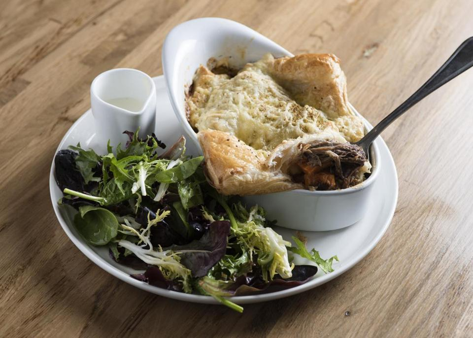 The traditional short-rib-and-ale pie at The James.