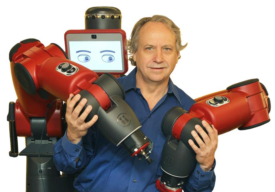 Rethink was founded in 2008 by Rodney Brooks (left), a professor at the Massachusetts Institute of Technology who also had cofounded iRobot.