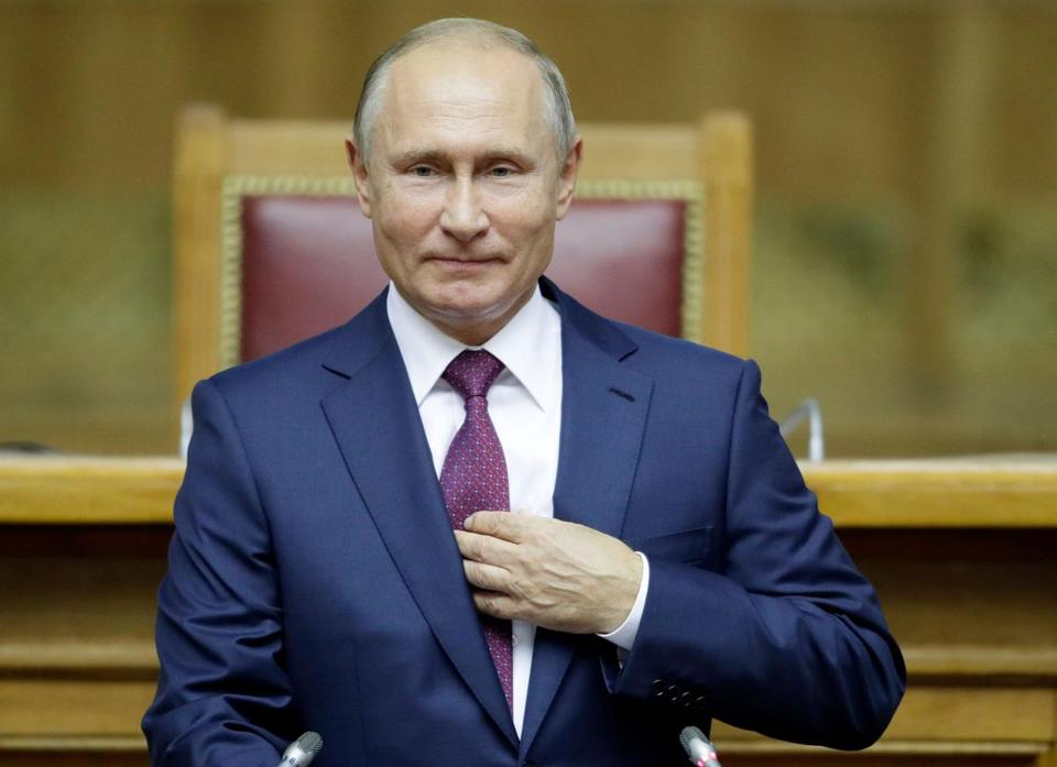 President Vladimir Putin of Russia delivers a speech in Saint Petersburg in September.