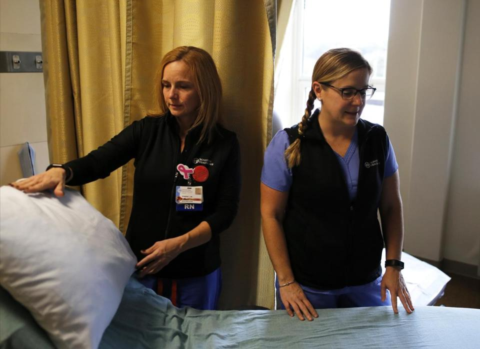 Jennifer Theriault and Siobhan Cruise are emergency room nurses in Brockton.