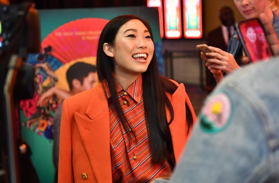 "Awkwafina (pictured at an Atlanta screening of ""Crazy Rich Asians"" in August) hosts ""Saturday Night Live"" Oct. 6."