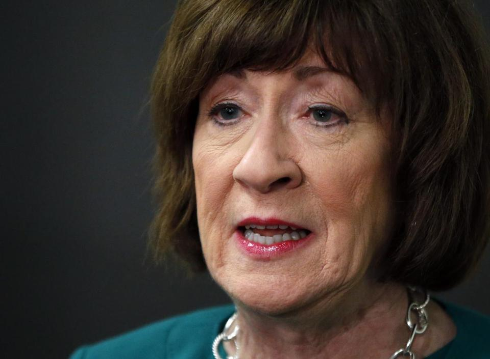 "Senator Susan Collins, Republican of Maine, on Christine Blasey Ford: ""I believed that a sexual assault had happened to her. What I think she is mistaken about is who the perpetrator was."""