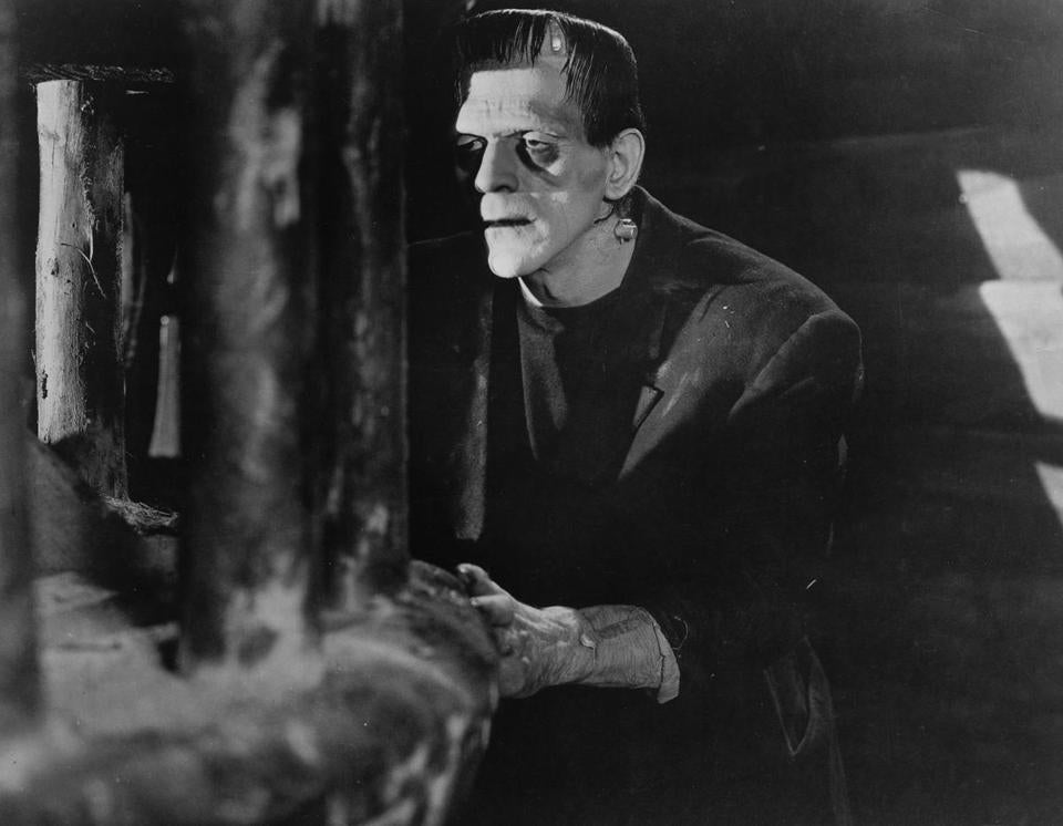 "Boris Karloff in the 1931 film version of ""Frankenstein."" A Bedford church is honoring the novel's 200th anniversary."