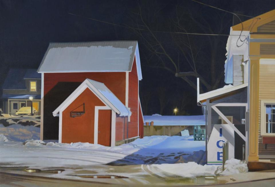 """Ice"" by Kathleen Kolb, one of the artists whose work is on display in ""New England Now"" at the Shelburne Museum in Vermont."