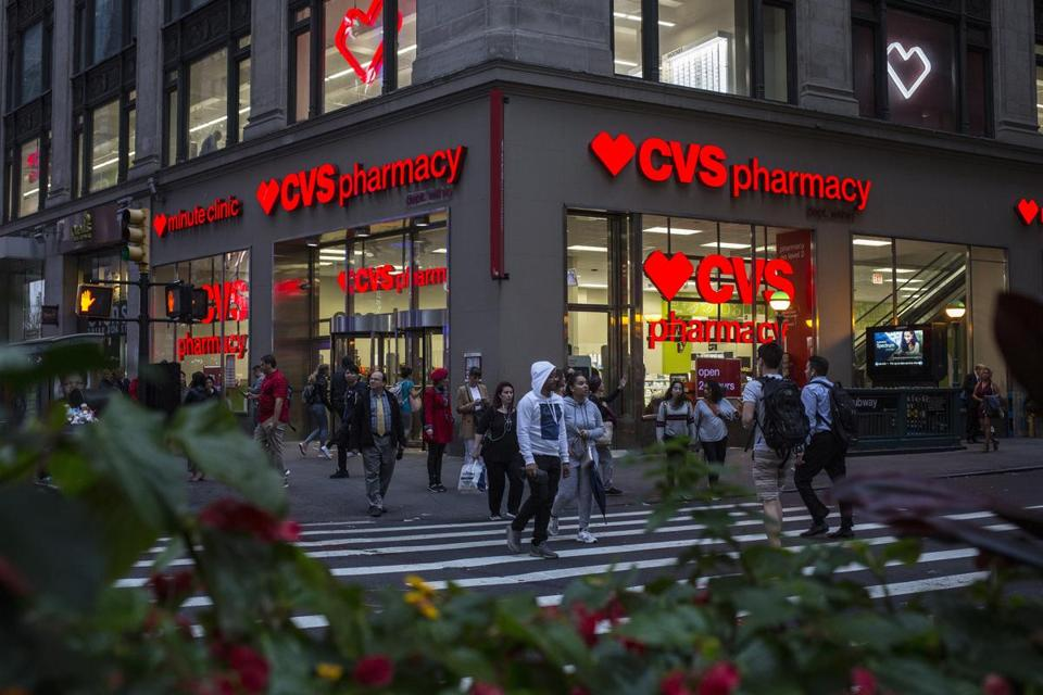 A CVS pharmacy location in Manhattan.