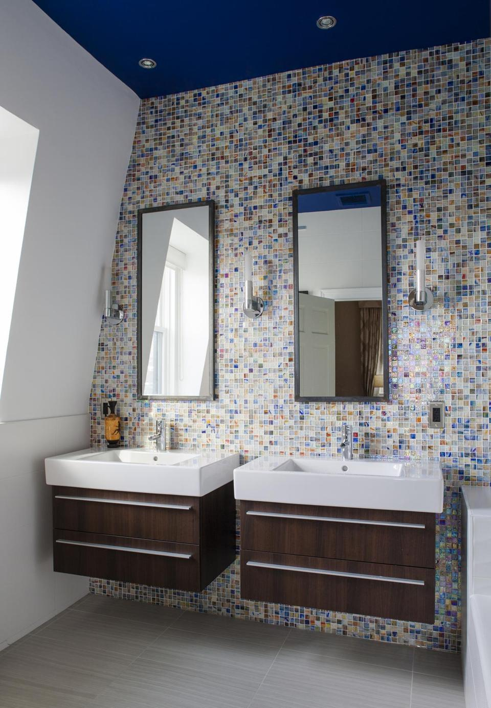 Seven stylish bathroom trends - The Boston Globe on mexican tile bathrooms, marble vanity tops for bathrooms, spanish style bathrooms, mexican home decorations for bathrooms, santa fe style bathrooms, painted mexican bathrooms, colonial style bathrooms, spanish designs for small bathrooms, aztec-inspired bathrooms, mexican looking bathrooms, mixacan bathrooms, shabby chic bathrooms, mediterranean inspired bathrooms, paris inspired bathrooms, spain bathrooms, beach inspired bathrooms, asian-inspired bathrooms,