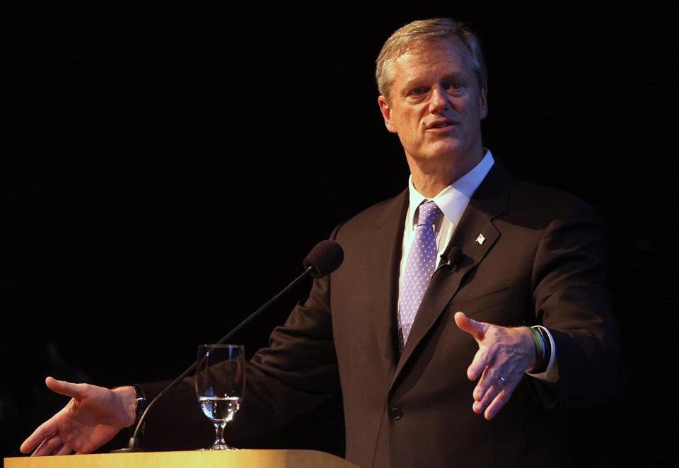 Baker spoke during a gubernatorial canddiates forum on Thursday.