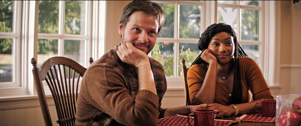 "Ike Barinholtz and Tiffany Haddish in ""The Oath."""